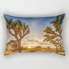 Gorgeous Sunset at Joshua Tree National Park Rectangular Pillow
