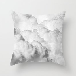 White Clouds Throw Pillow