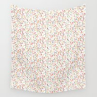 sprinkles Wall Tapestries featuring Confetti Sprinkles by Lburleighdesigns