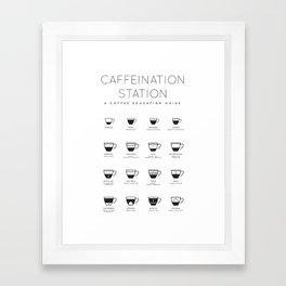 Coffee Chart - White Framed Art Print
