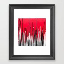Piano Grass Framed Art Print