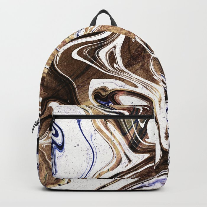 Liquid Bronze and Marble Backpack