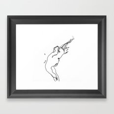 Needle and Thread - Black and White Drawing Framed Art Print