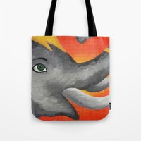 ganesh Tote Bags featuring Ganesh by Erin Schamberger