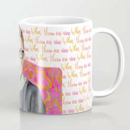 "Ruth Bader Ginsburg ""RBG"" Watercolor Coffee Mug"