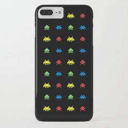 space aliens invaders stylish gamer art iPhone Case