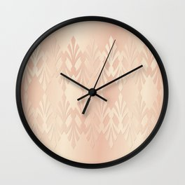 Art Deco Delicate Rose Gold Pattern Wall Clock