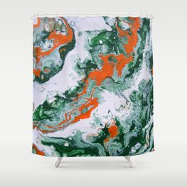 Carnival Squash Abstract Shower Curtain