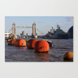 The River Thames, London, England Canvas Print