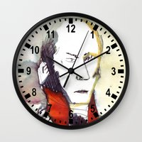 lawyer Wall Clocks featuring the lawyer man by seb mcnulty