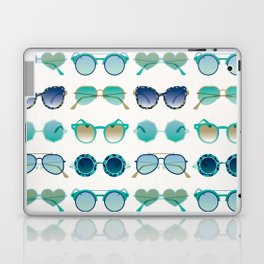 Sunglasses Collection – Turquoise & Navy Palette Laptop & iPad Skin