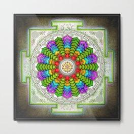 Lotus Sri Yantra Metal Print