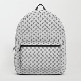 Tiny Paw Prints - Grey on Light Silver Grey Backpack