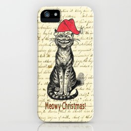 Meowy Christmas Holiday Kitty iPhone Case