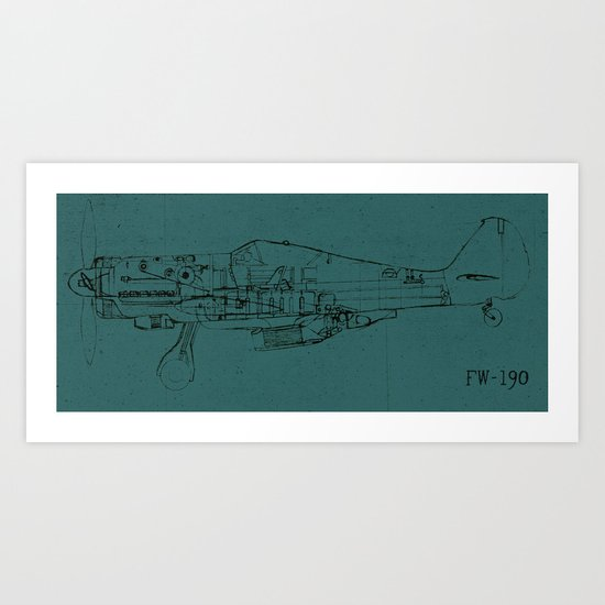 FW - 190 (Colour) Art Print