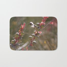 Hummingbird Flying To Red Yucca 2 in 3 Bath Mat