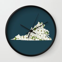 Virginia in Flowers Wall Clock