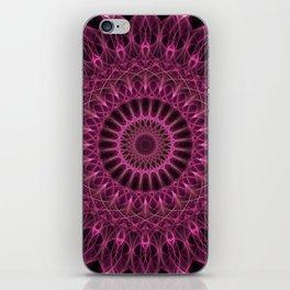 Dark pink mandala iPhone Skin