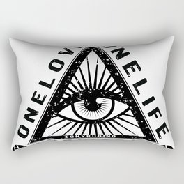 Rubino All Seeing Eye Mandala Design Pattern Love Triangle Rectangular Pillow