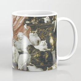 My Wife's Lovers by Carl Kahler 1883 Famous Cat Painting Coffee Mug