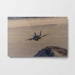 Hornet Low Level Metal Print