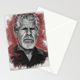 Clay Morrow Portrait -SOA 01 Stationery Cards