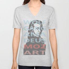 Wolfgang Amadeus Mozart Unisex V-Neck