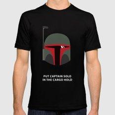 Star Wars Minimalism - Boba Fett SMALL Mens Fitted Tee Black