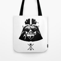darth Tote Bags featuring Darth. by Glassy