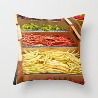 vegetables Throw Pillows featuring Vegetables by Toni-Ann Langella