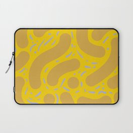 Wibbly Wobbly - Yellow mustard, and lavender Laptop Sleeve
