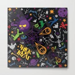 Space is the Place for Halloween Metal Print