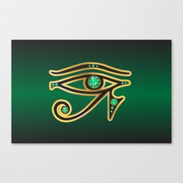 Eye of Ra Emerald Canvas Print