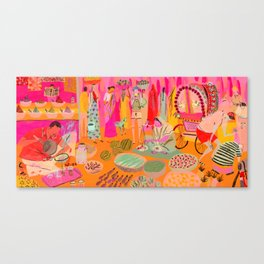 Indian Marketplace Canvas Print