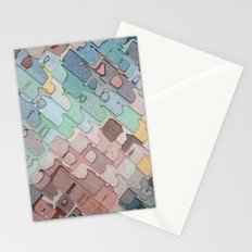 Colorful Layers Pattern Stationery Cards