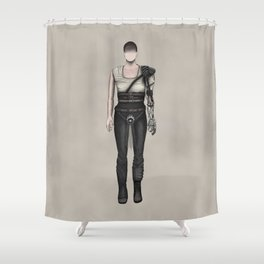 Furiosa without a face (MadMax) Shower Curtain