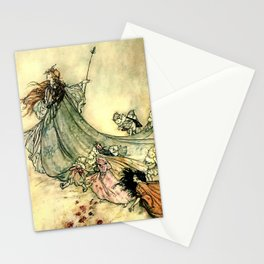 """""""Queen of the Fairies"""" by Arthur Rackham Midsummer's Night Stationery Cards"""