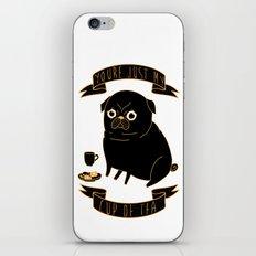 Tea Pug iPhone & iPod Skin