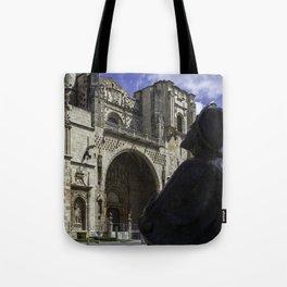 Camino Pilgrim Leon Spain Tote Bag