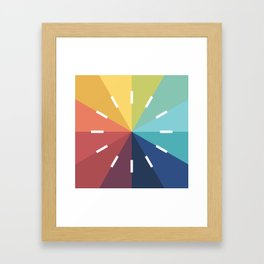 Modern Color Wheel Framed Art Print