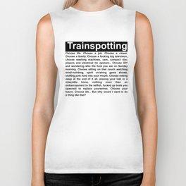 Trainspotting Choose Life Quote Biker Tank