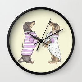 Dancing Salchichas Wall Clock