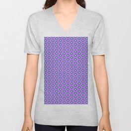 Mandala pattern smal purple Unisex V-Neck