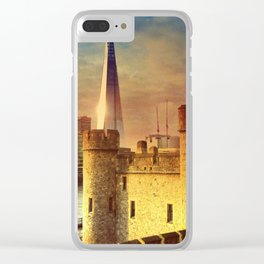 The Tower of London & The Shard Clear iPhone Case