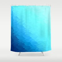 turquoise Shower Curtains featuring Turquoise by SimplyChic