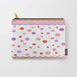 Waves - Pink/Orange Carry-All Pouch