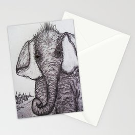 An Adorable Baby Elephant Stationery Cards