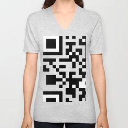 QR Code Unisex V-Neck