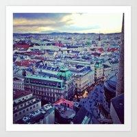 vienna Art Prints featuring Vienna by SandraHuezo