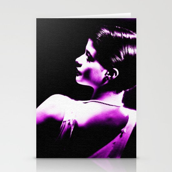 VIOLET WOMAN  Stationery Cards